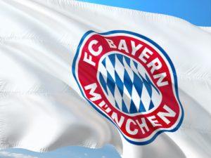 flaga z herbem Bayernu Monachium